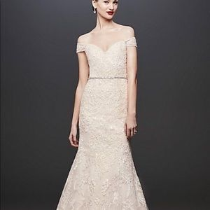 Oleg Cassini mermaid wedding gown